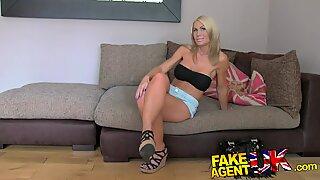 Fake Agent UK Beautiful blonde MILF gives blowjob