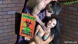 Behind the Scenes with Asa Akira vs. Zombie shoot