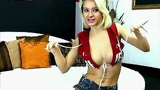 Blonde Petite is very Happy - Cam SLut have Perfect Body