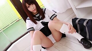 japanese student Maiko loves to show her white underpants