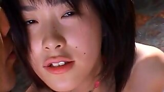 Asian babe gets horny pussy stimulated before a harsh dick ride