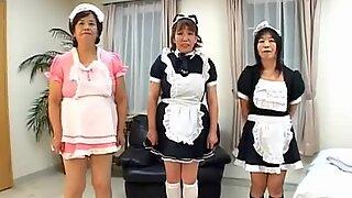 Crazy Japanese granny sex