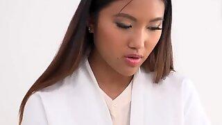 Cute Nurse Mai Thai Double Penetrated by Patients