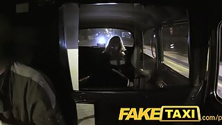 FakeTaxi Mature blonde thirsty for late night pipe