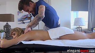 Fit Euro MILF sucks and fucks her tattooed masseur