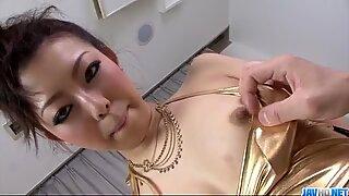 Yuki Asami Japanese milf takes on a really fat dick