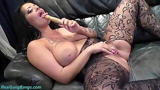 wild orgy with busty Milf Ashley Cum Star