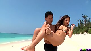 Outdoor beach Japanese trio - More at 69avs.com