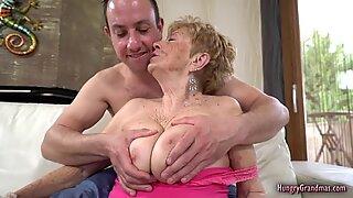 Grandma Malya Screwed by a Stud