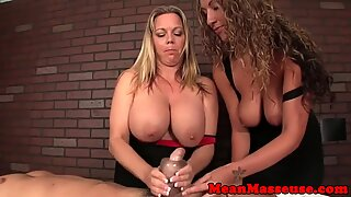 Alluring massage babes enjoy cbt fun