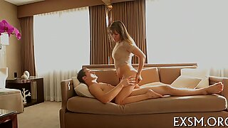 Hot babe is about to cum once again