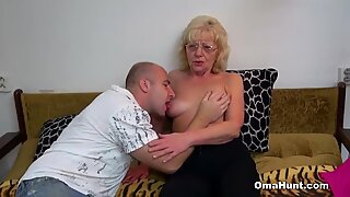 Naughty Granny Wants Some Penis Too
