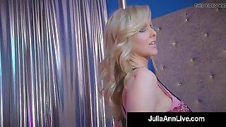 Stripper? Famous Cougar Julia Ann Fingers Her Fine Fuckhole!