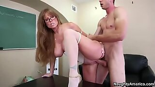 Dirty granny Darla Crane gets her old twat poked hard from behind