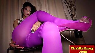Glam thai ladyboy teases very sensual