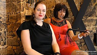 Dominantes Duo German FemDom erzieht Sklaven
